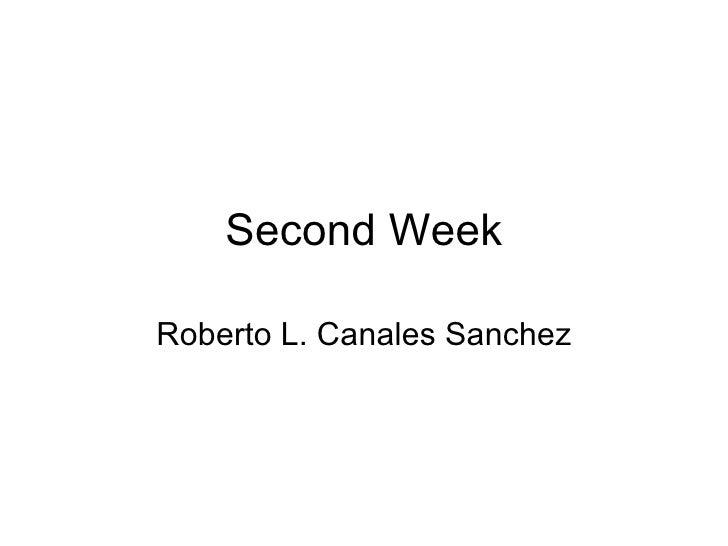 Second Week Roberto L. Canales Sanchez