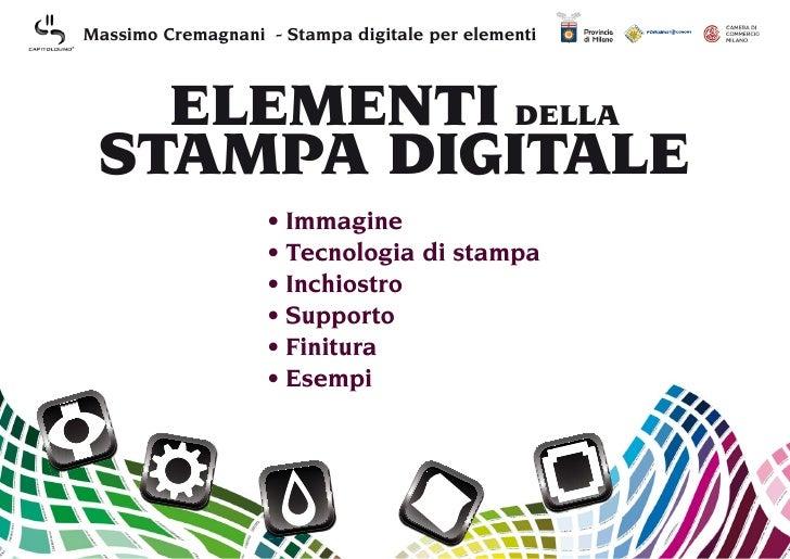 Elementi della stampa digitale