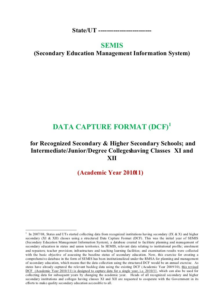 Secondary education-management-information-system-data-capture-format-semis-nuepa-december08-2010