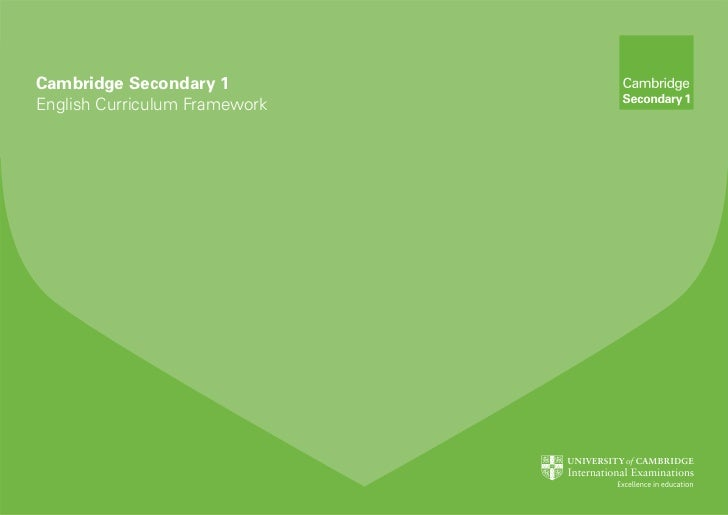 Secondary 1 english curriculum framework