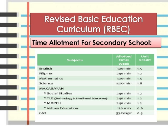 essay about secondary education curriculum