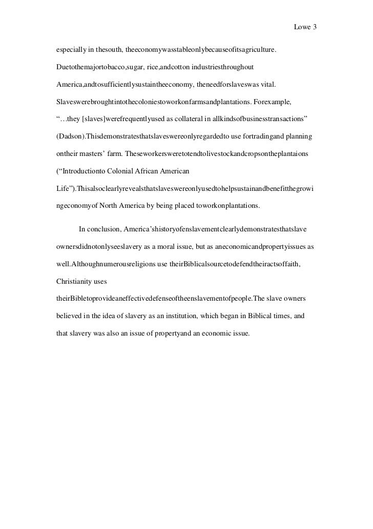 term paper on slavery Learn how to write a good essay paper on us slavery, check tips in writing an essay paper on us slavery order client lounge your essay or term paper.