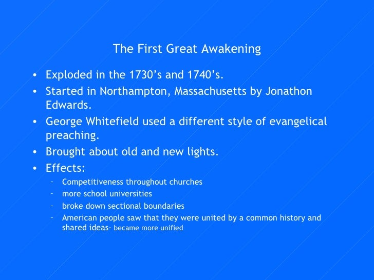 effects of the second great awakening The second great awakening  effects of the fugitive slave law (image, 1850) colored scholars excluded from school (image,  resources a declaration of the.