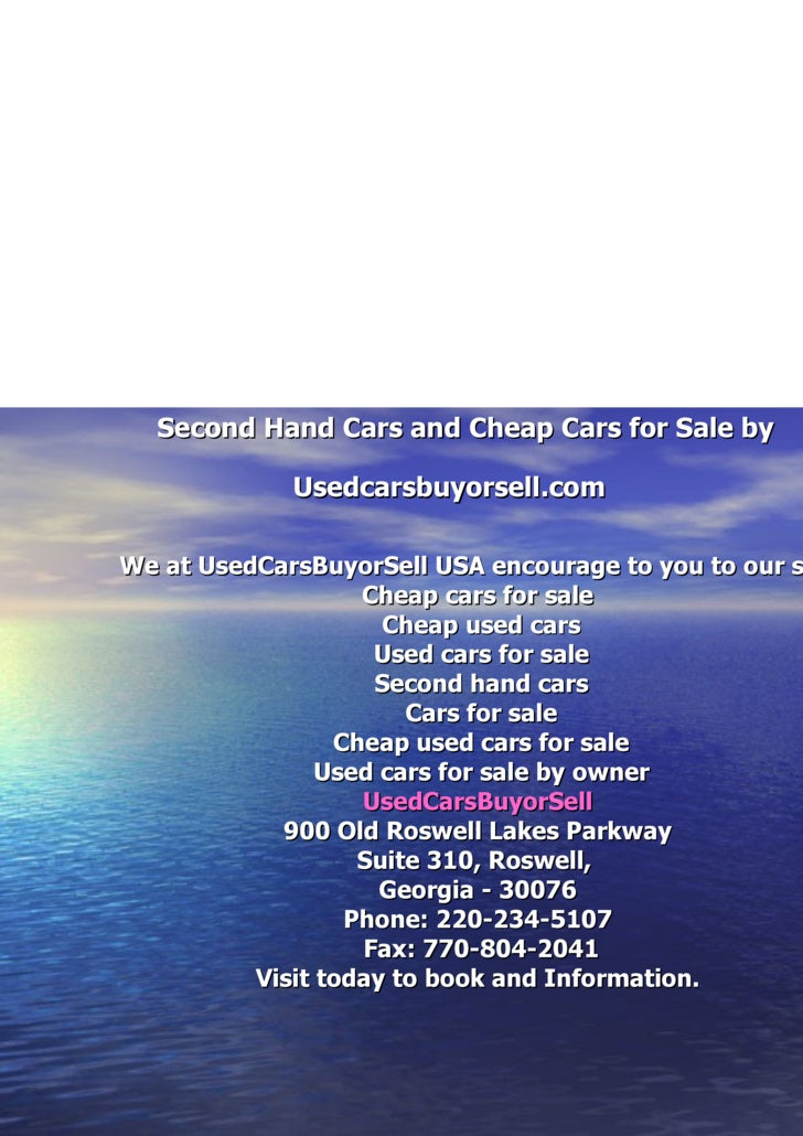 Second Hand Cars And Cheap Cars For Sale