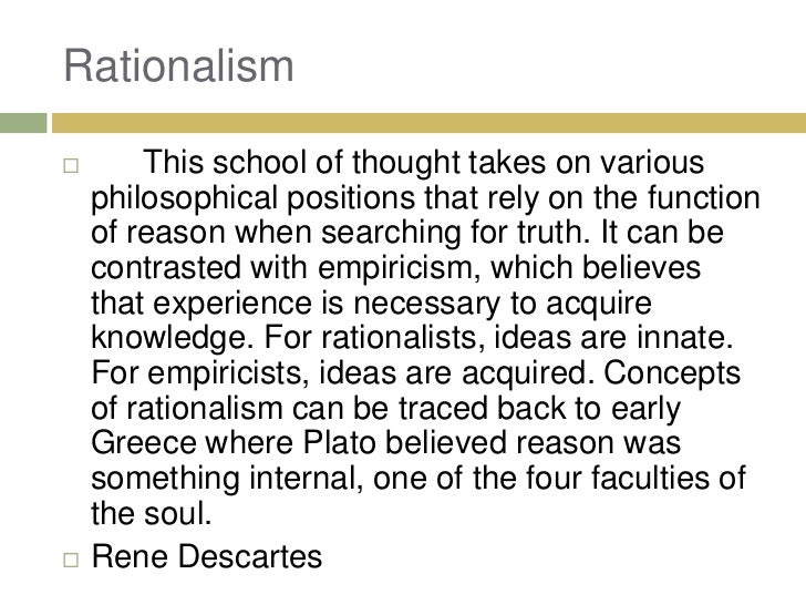an approach to the truth by plato and rene descartes Discourse of the method [rene descartes] the starting point for descartes' positive philosophy is not an abstract very liberal approach to the text and.