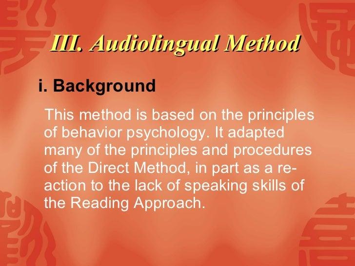 the audiolingual methods essay
