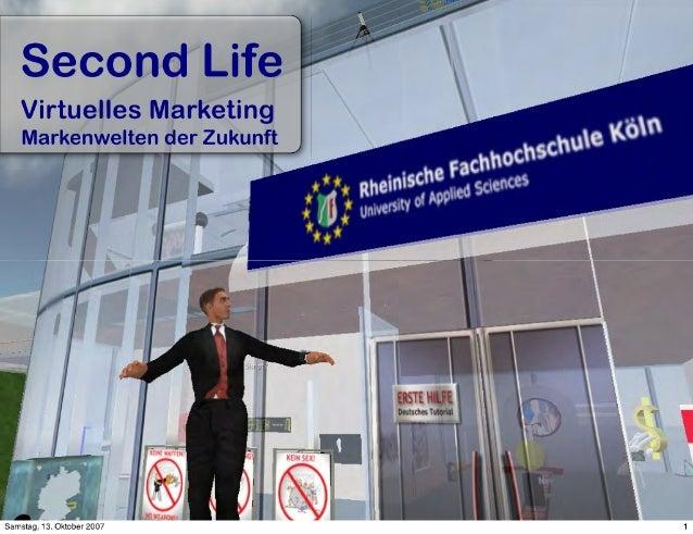 Secondlife Virtuelles Marketing Tu Kaiserslautern