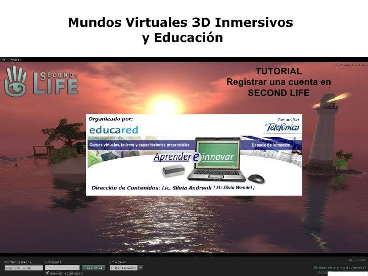Crear una cuenta en Second Life