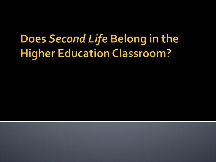 Second Life Presentation Cfttc 09