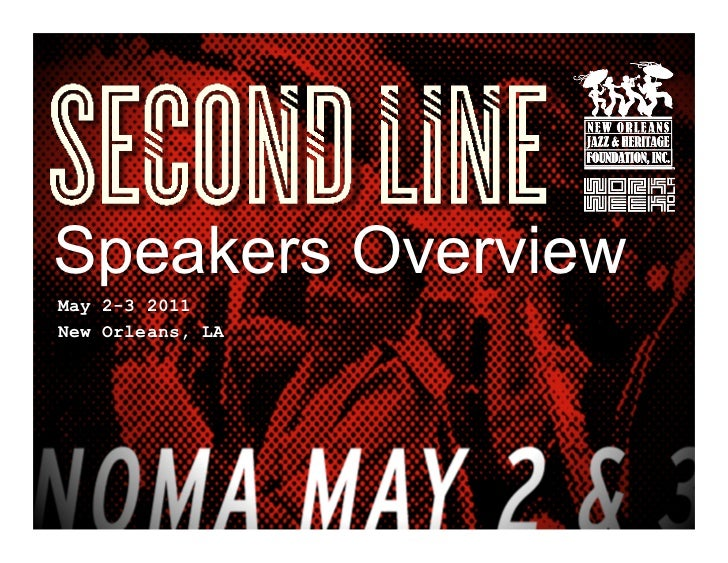 Second LIne Conference - Speakers - New Orleans LA