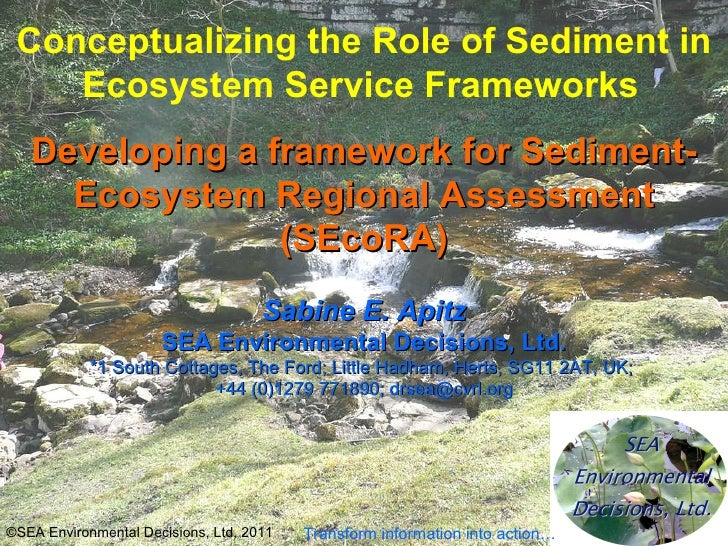 Conceptualizing the Role of Sediment in Ecosystem Service Frameworks   Developing a framework for Sediment-Ecosystem Regio...