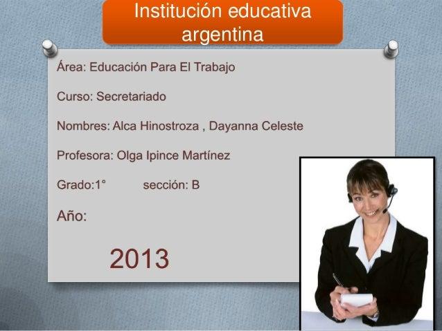 Institución educativa argentina