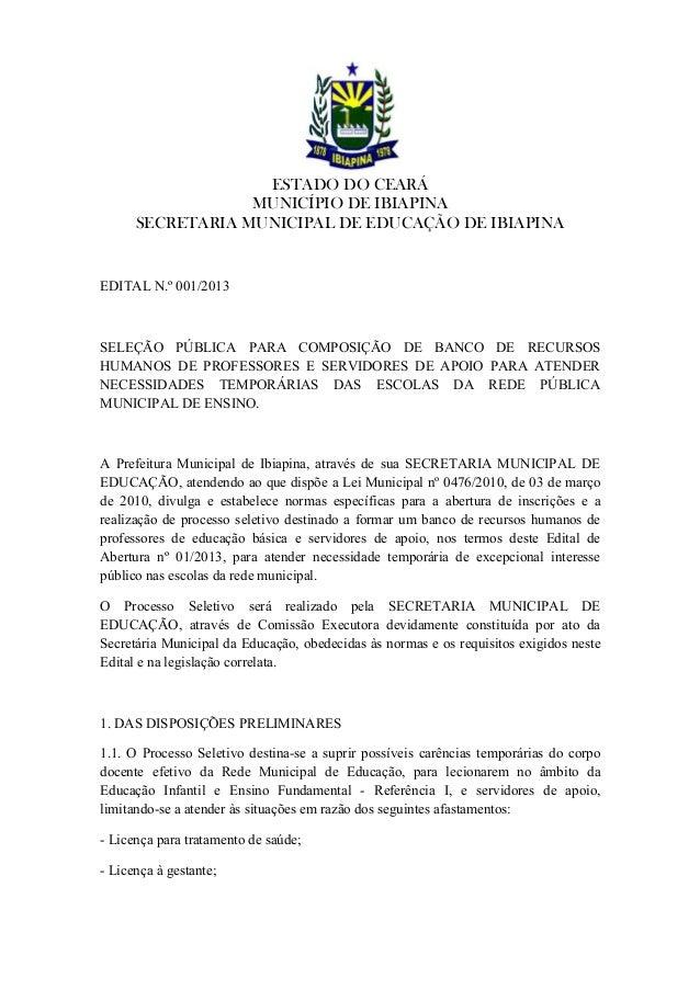 Secretaria municipal de_educação_de_ibiapina