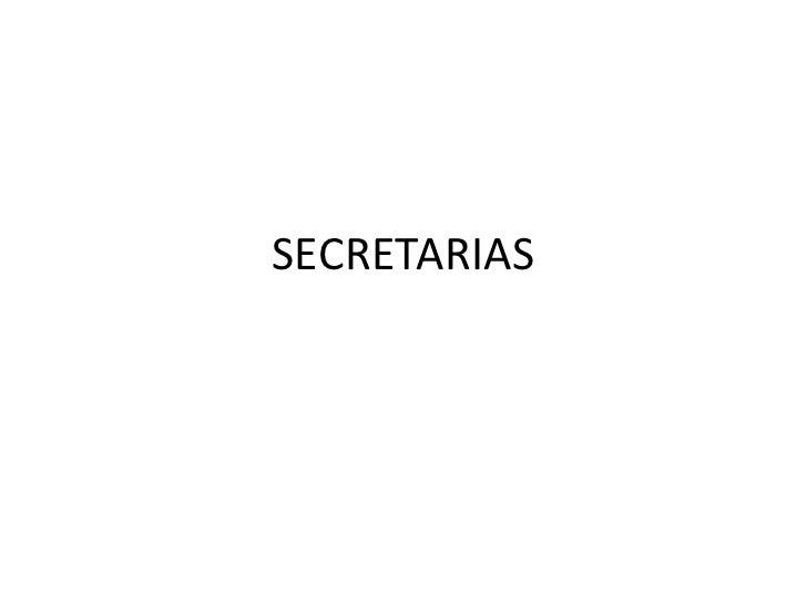 Secretarias diapositivas
