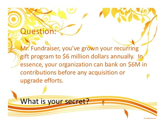 The Secret of Fundraising