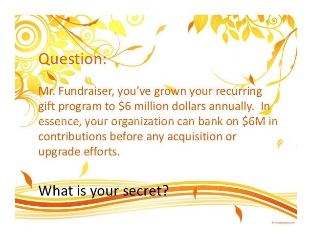 The Secret of Fundraising