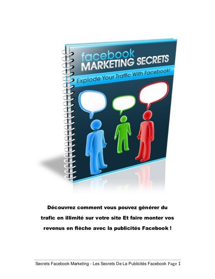 Les Secrets De La Publicités Facebook !