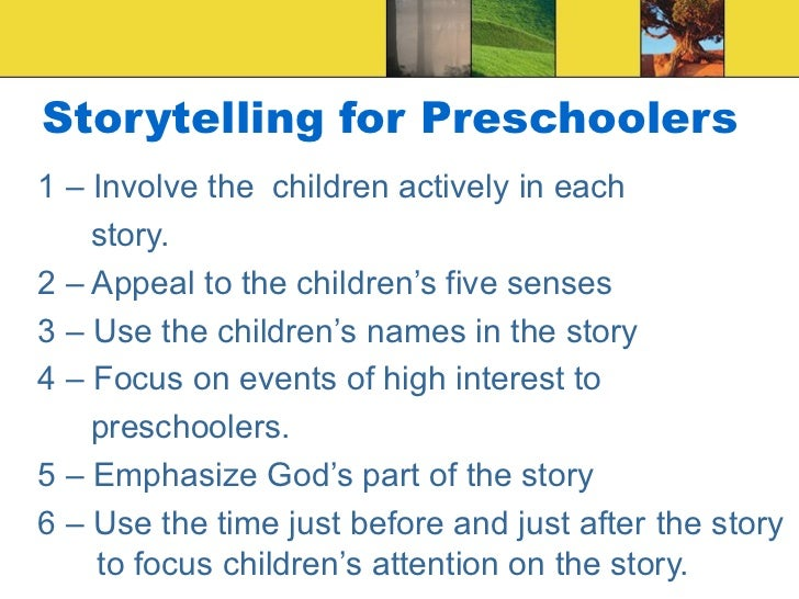 storytelling in ece Online interactive storytelling as a strategy for learning music and for integrating  pupils with hearing disorders into early childhood education (ece.