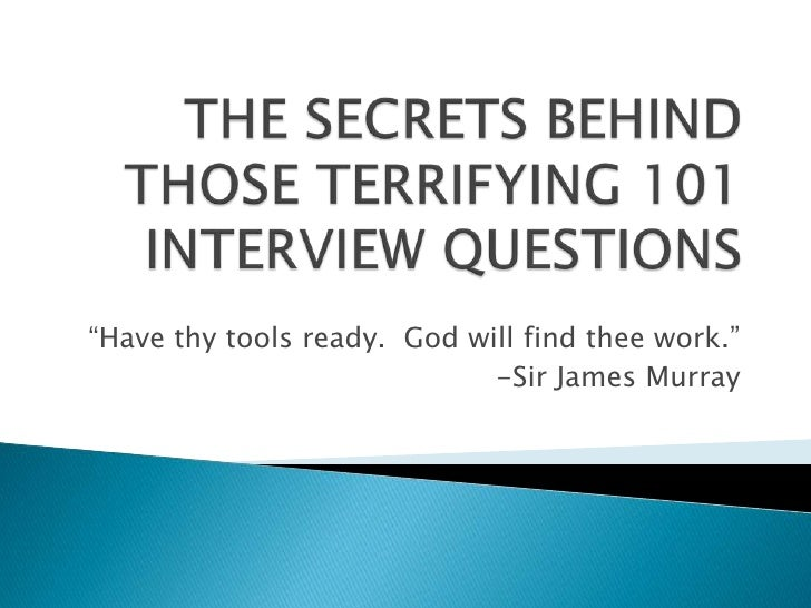 Secrets Behind Those101 Questions Short Rev.1.31.10