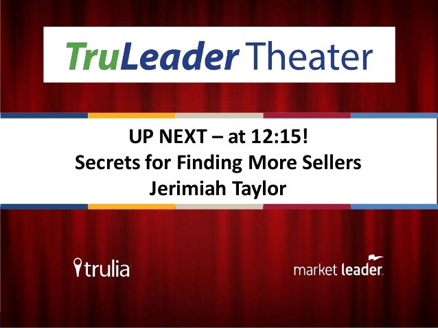 Secrets for finding more sellers - Jerimiah Taylor