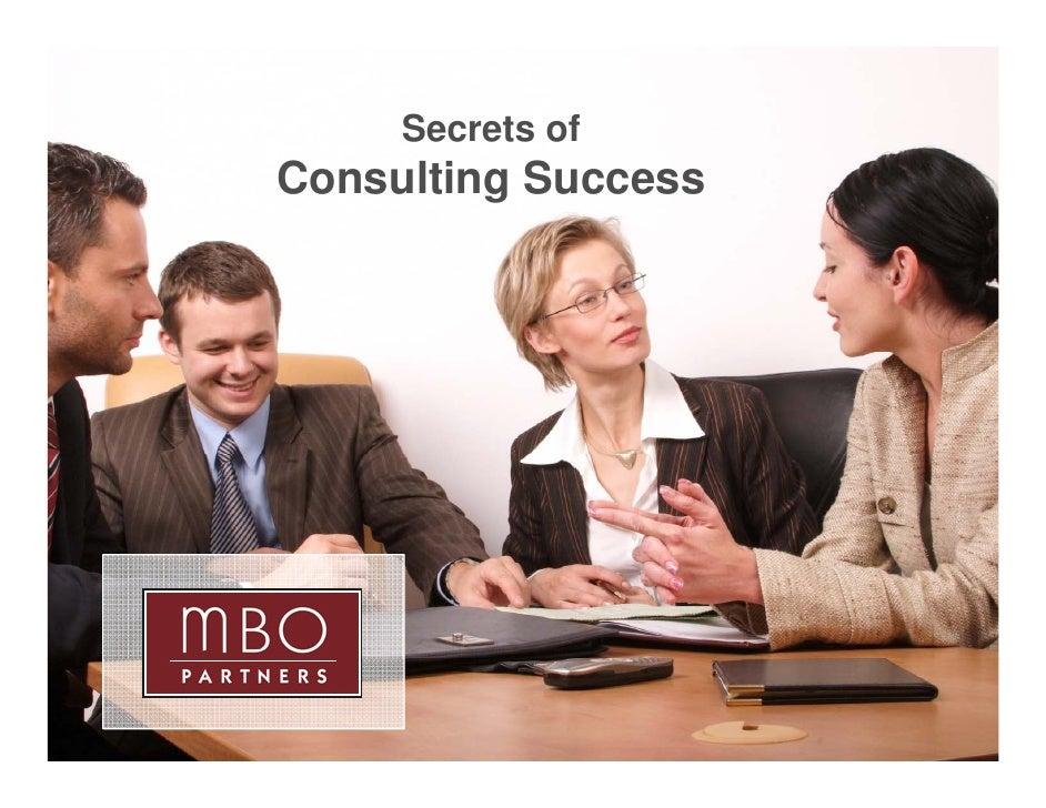 Secrets Of Consulting Success