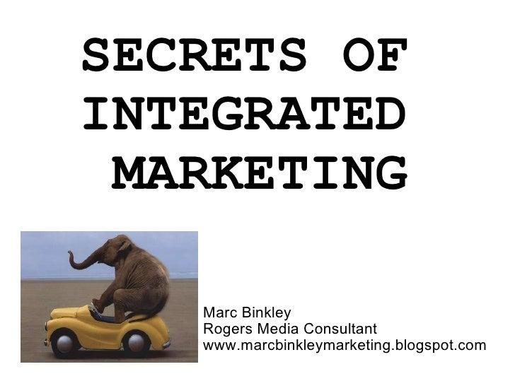 Secrets of integrated marketing