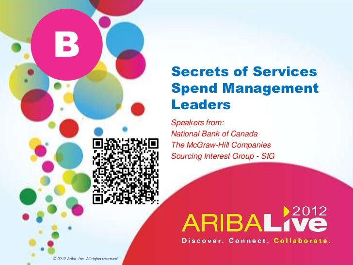 B                                          Secrets of Services                                          Spend Management  ...