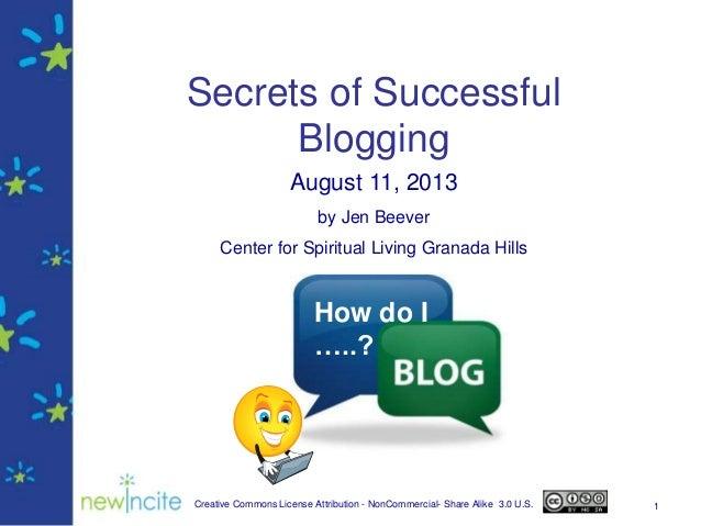 Secrets of Successful Blogging