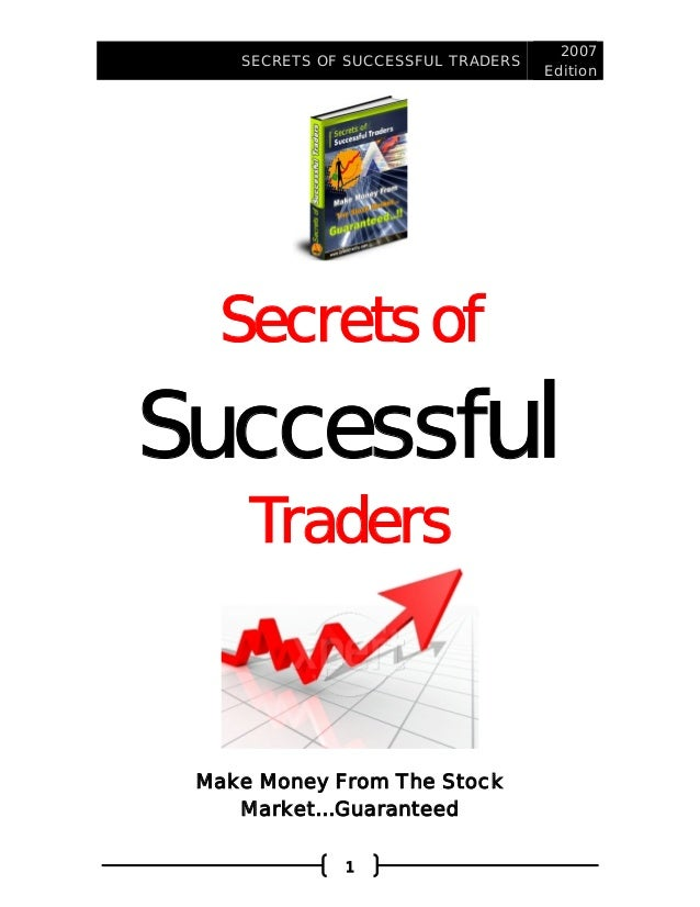Secrets of a successful forex trader