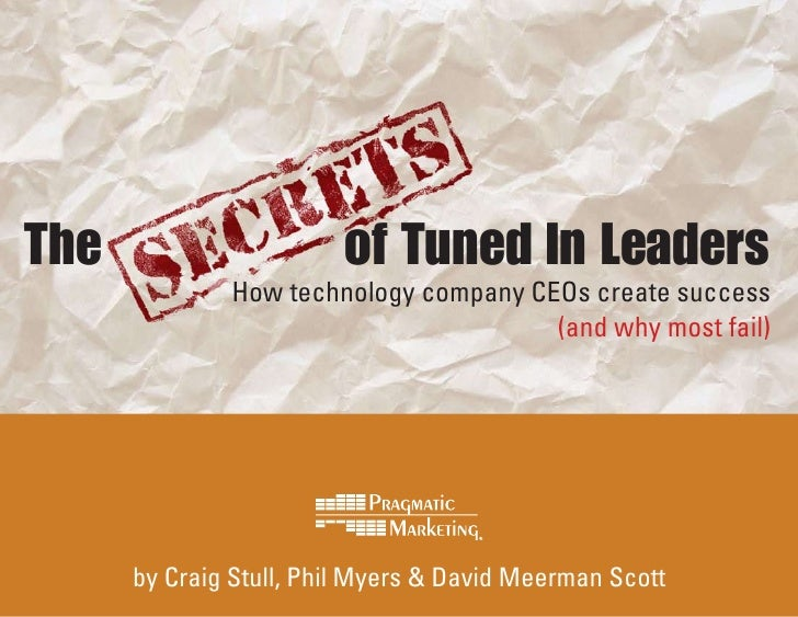 The                      of Tuned In Leaders               How technology company CEOs create success                     ...