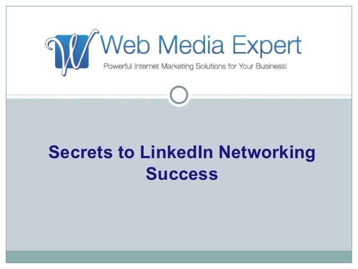 Secrets to Linkedin Networking Success