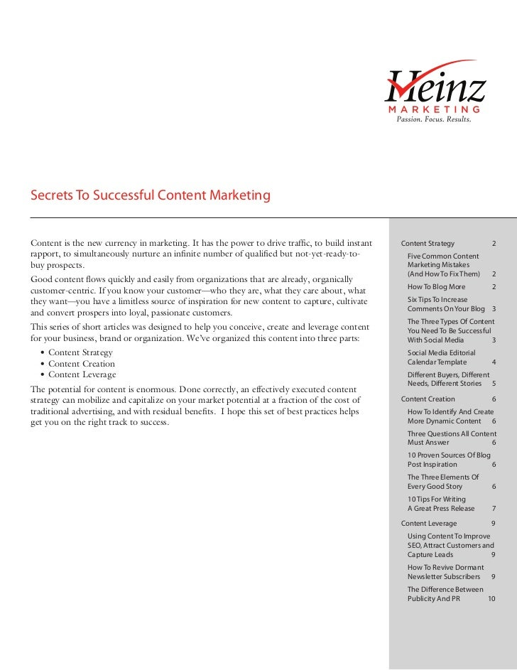 Secrets To Successful Content MarketingContent is the new currency in marketing. It has the power to drive traffic, to bui...