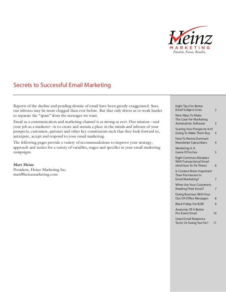 Secrets to Successful Email Marketing