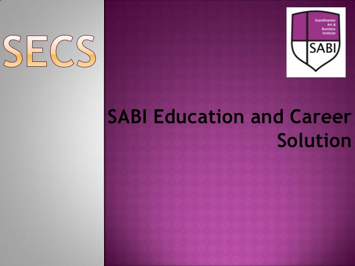 SABI Education and Career                 Solution