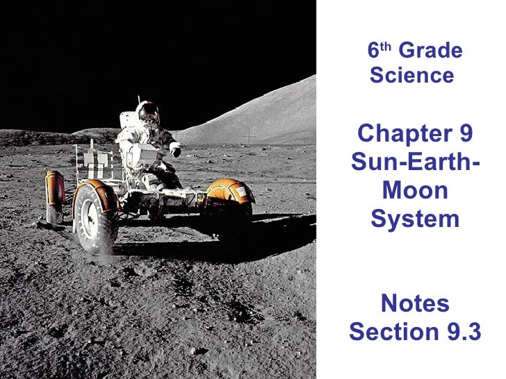 6 th  Grade Science  Chapter 9 Sun-Earth-Moon System Notes Section 9.3