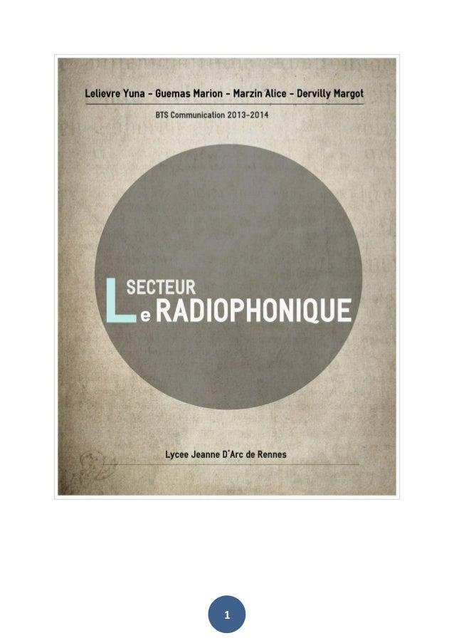 Secteur radiophonique français