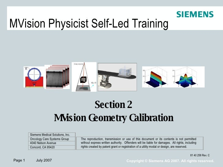 Section 2  M Vision Geometry Calibration  V Mc 062707 V Rjo062807