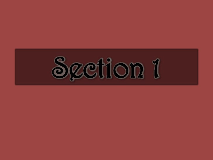 Section 1<br />