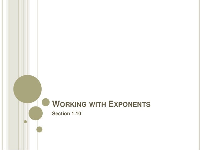 FRCC MAT050 Working with Exponents (Sect 1.10)