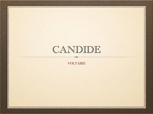 Voltaire's Writing Techniques In Candide
