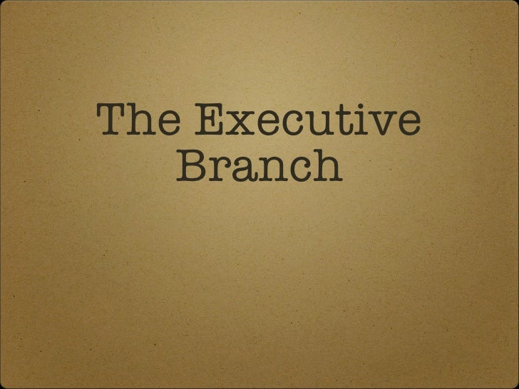 Section 1 of the Executive Branch Unit