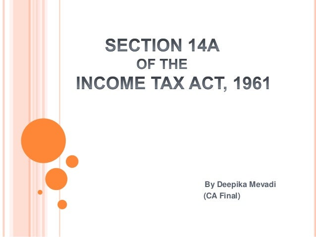 Section 14 a of i tax act