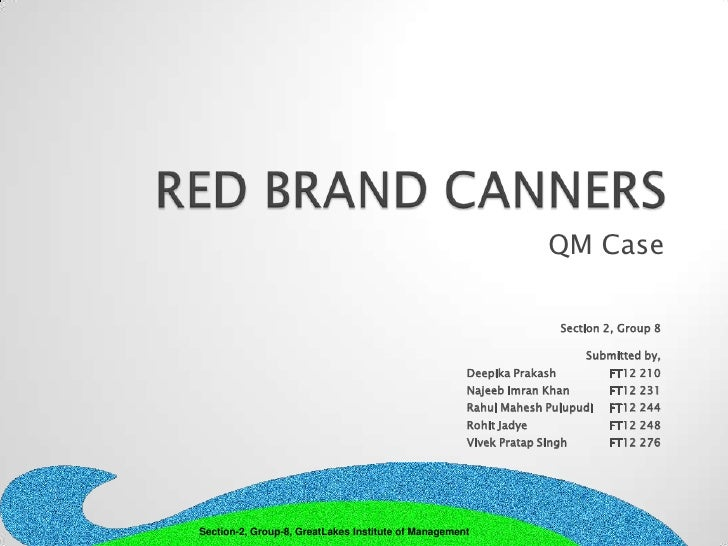 case analysis red brand canners Red brand canners essays: over 180,000 red brand canners essays, red brand canners term papers canners case study red brand canners 2 summary context.