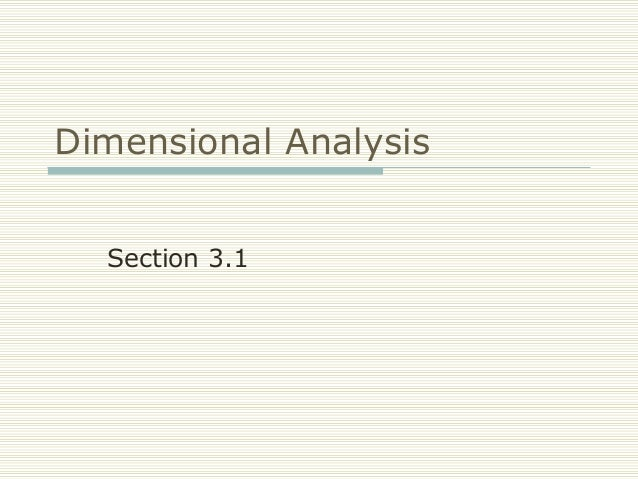 FRCC MAT050 Dimensional Analysis (Sect 3.1)