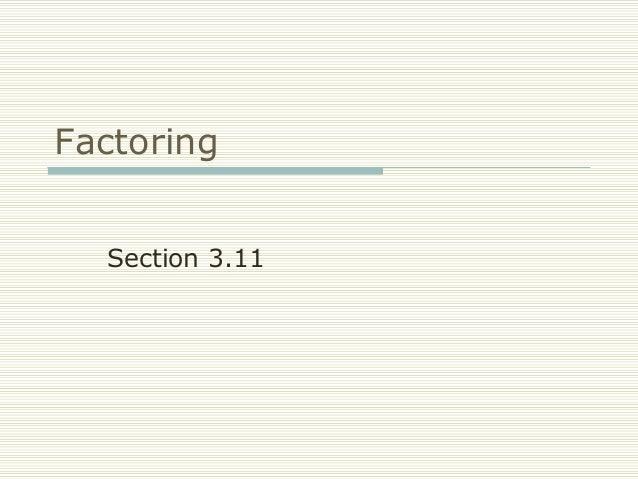 FRCC MAT050 Factoring (Sect 3.11)