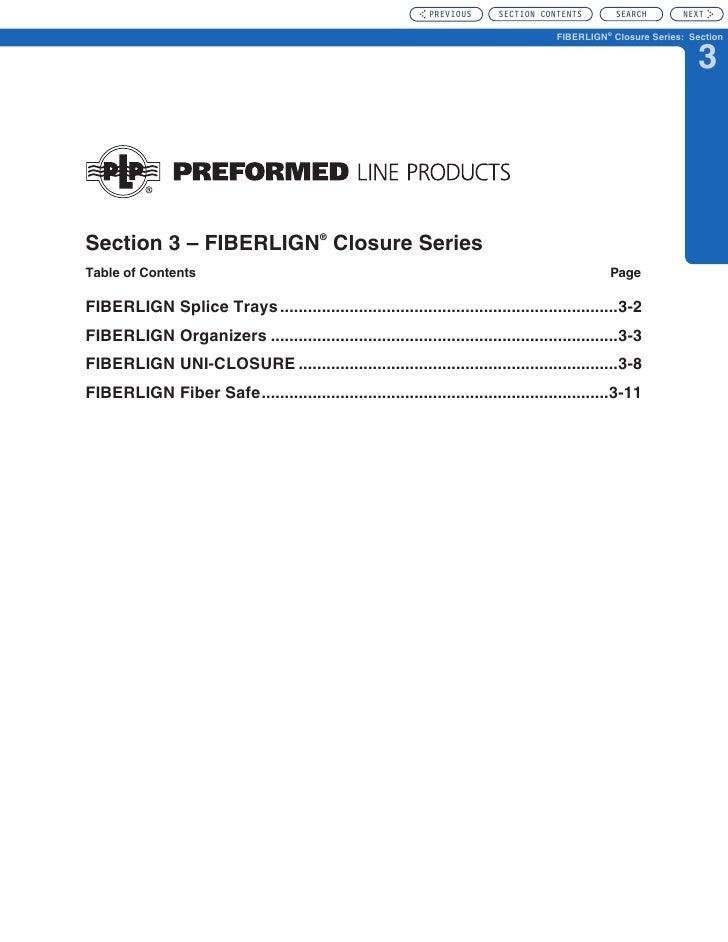 Section 3 - FIBERLIGN Closure Series