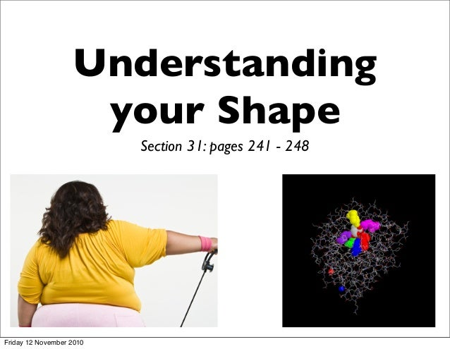 Understanding your Shape Section 31: pages 241 - 248 Friday 12 November 2010