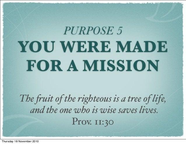 Rick Warren a life of purpose