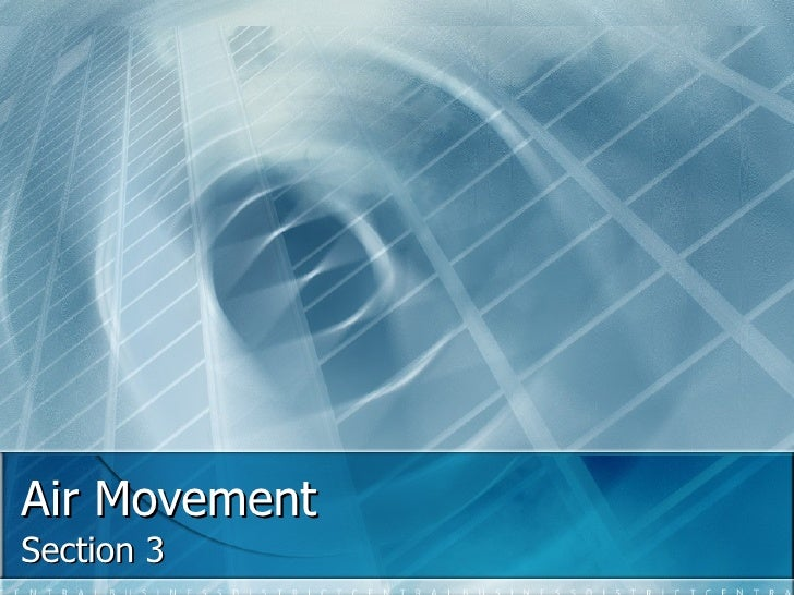 Air Movement Section 3