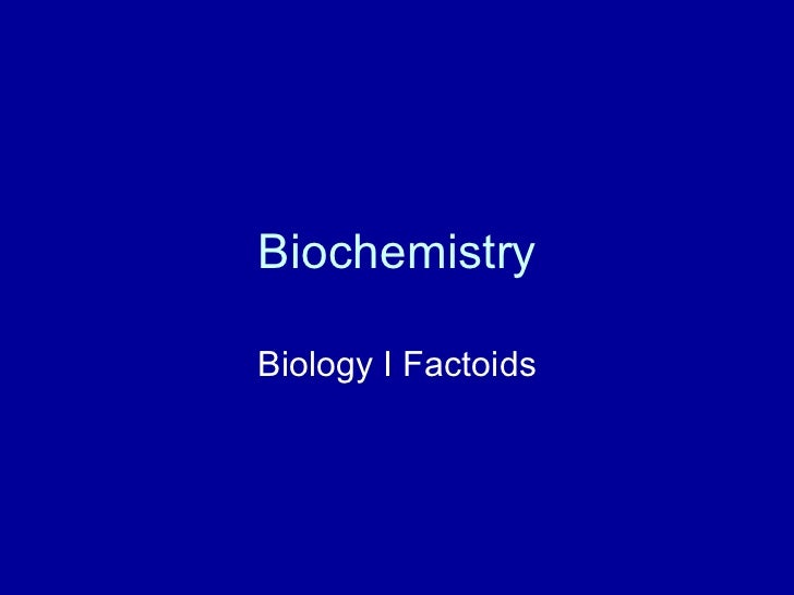 Section 4 - Biochemistry